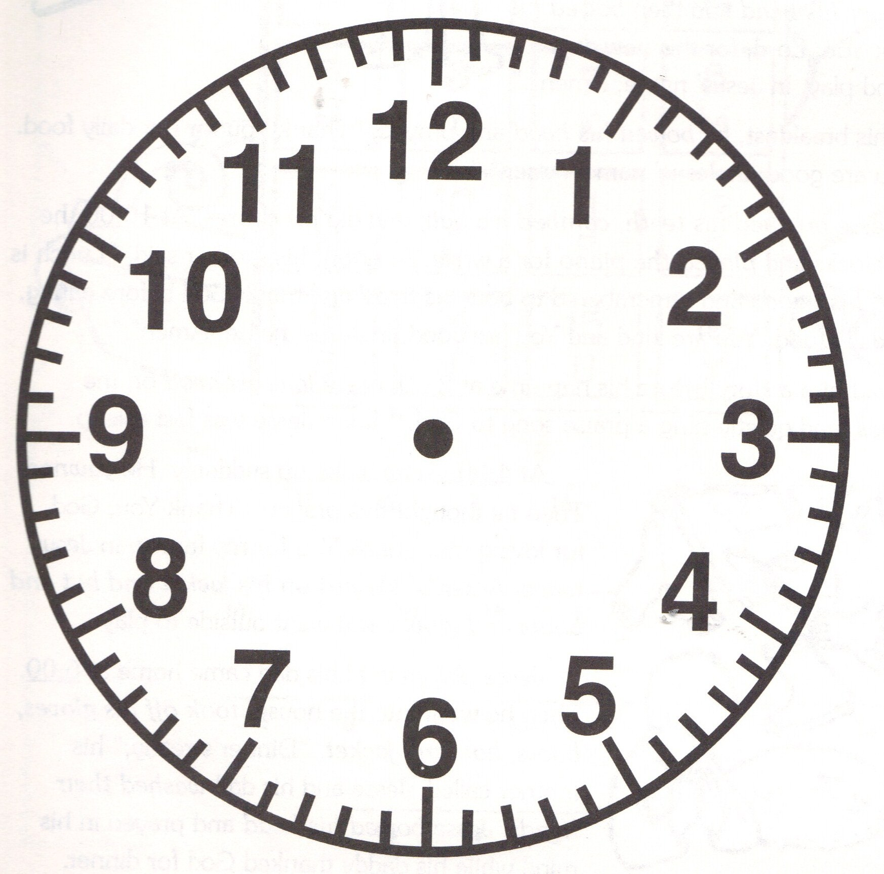 Printable Clock Face Without Hands