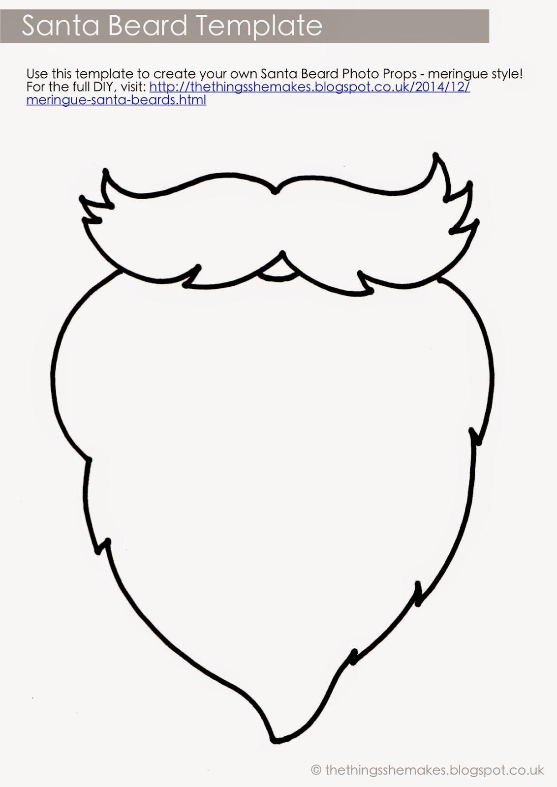 Santa beard template printable maxwellsz