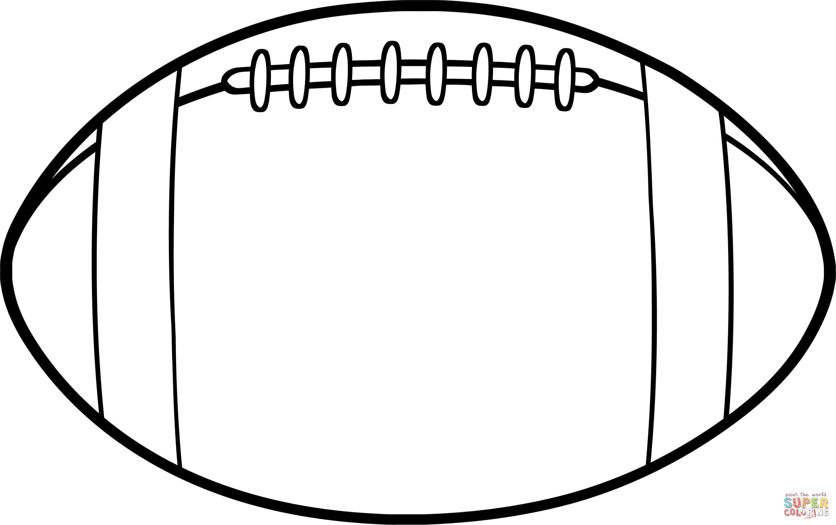 Outline Of Football Field