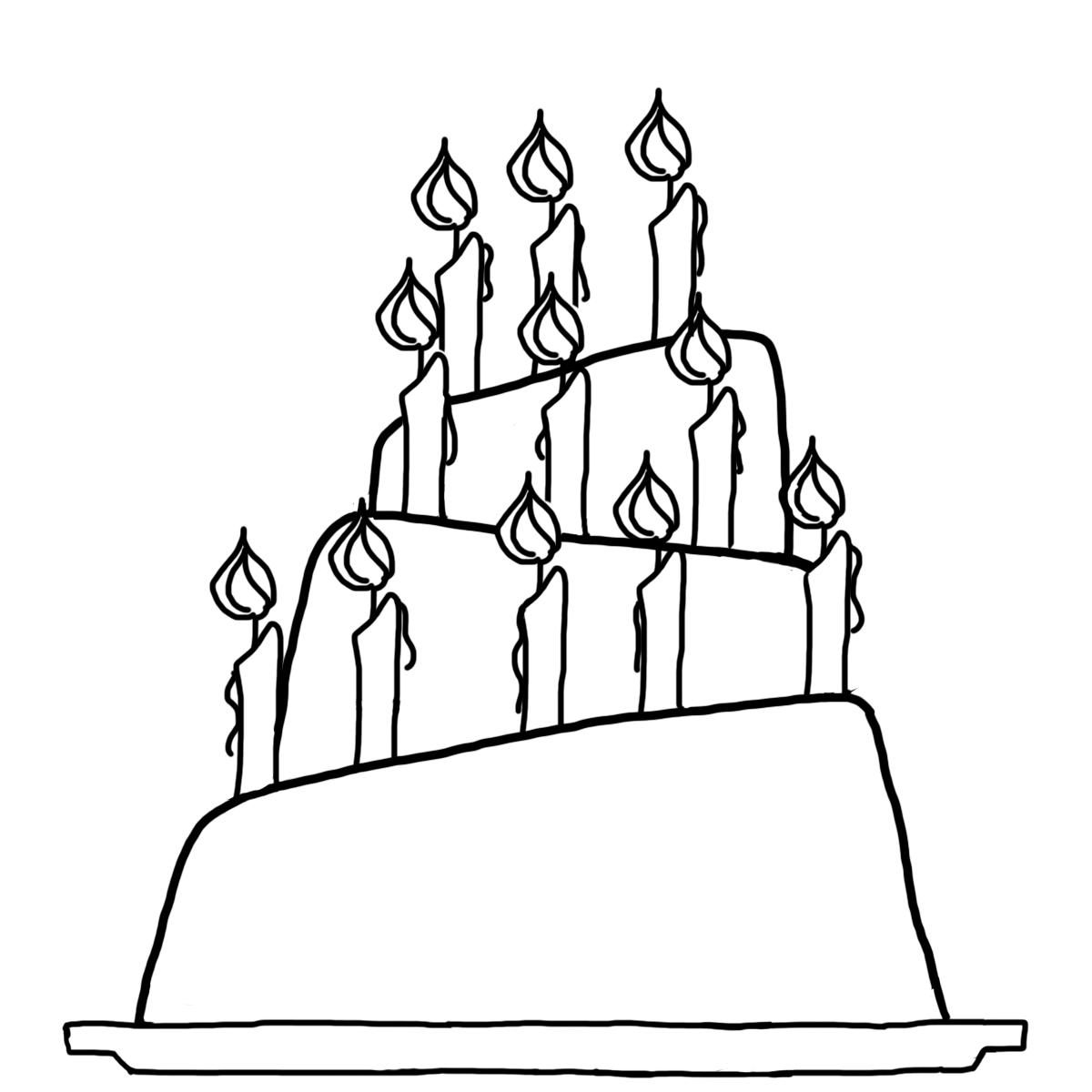Birthday Cakes Drawings