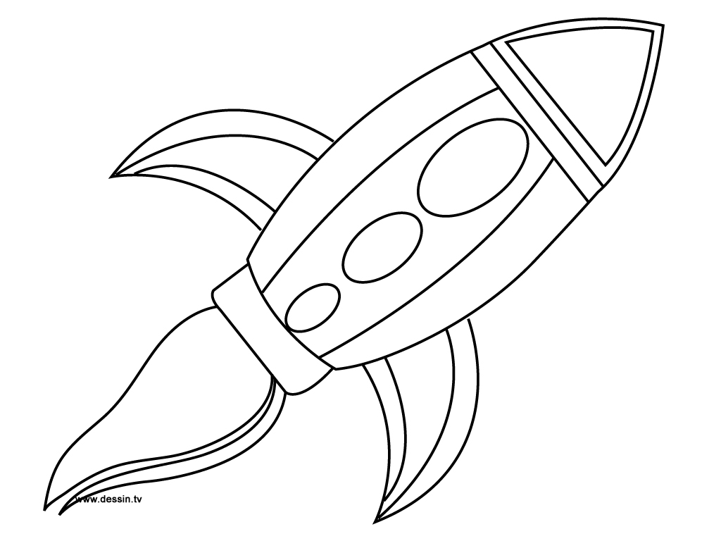 Rocket Outline Coloring Pages