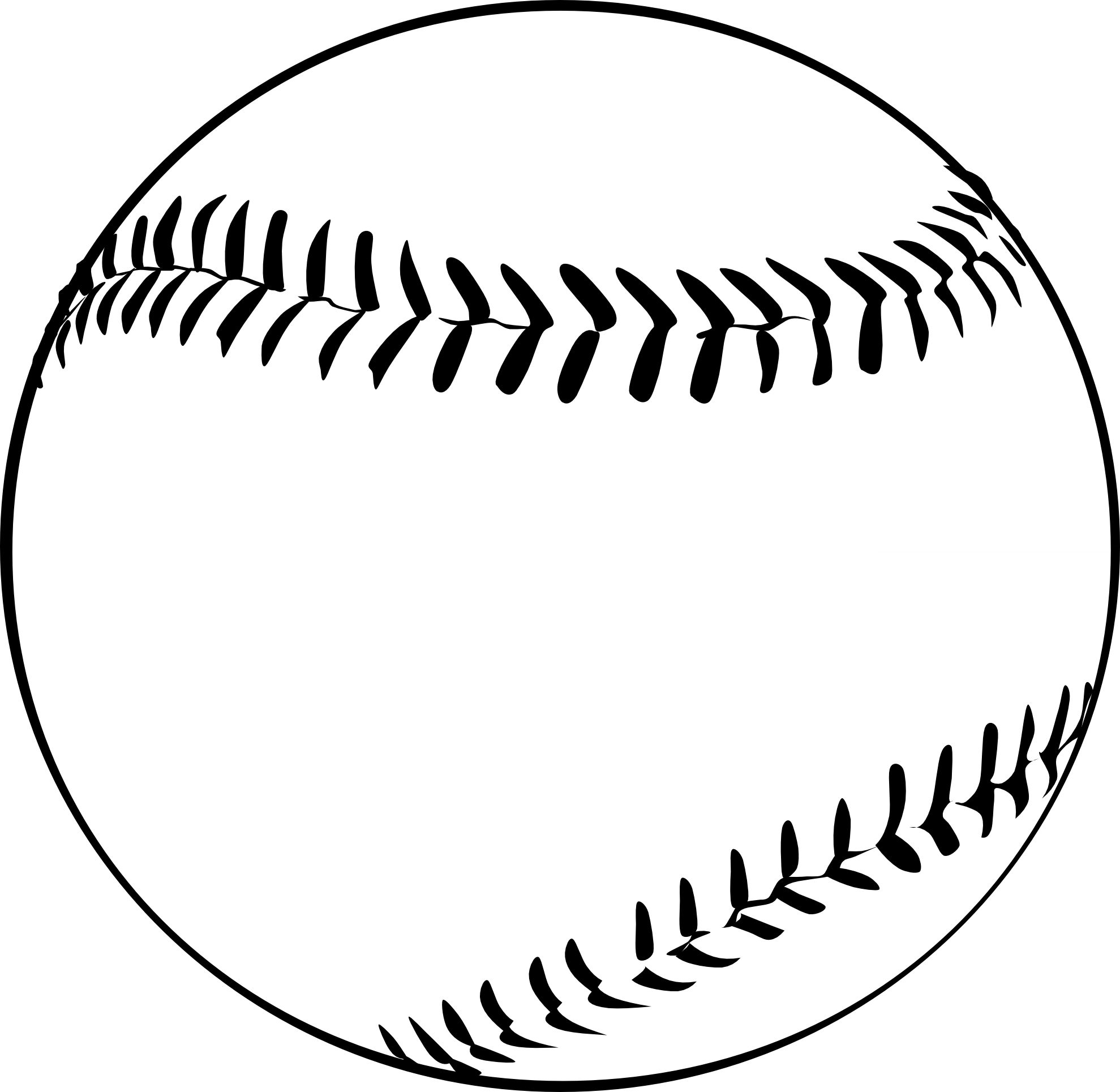 Black And White Baseball Ball