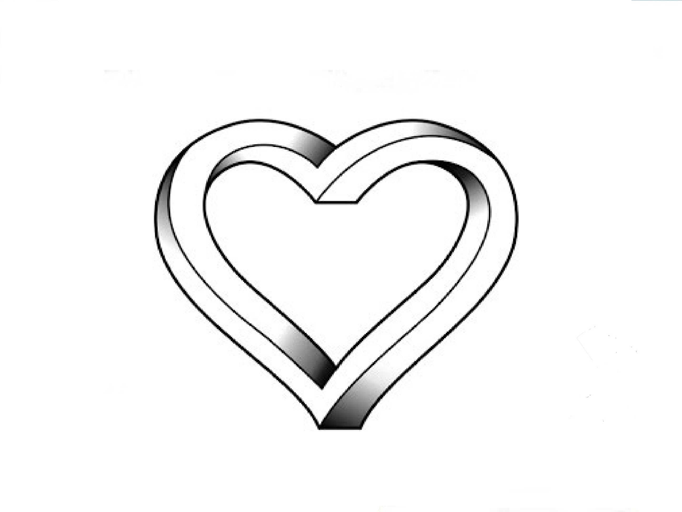 Line Drawing Heart