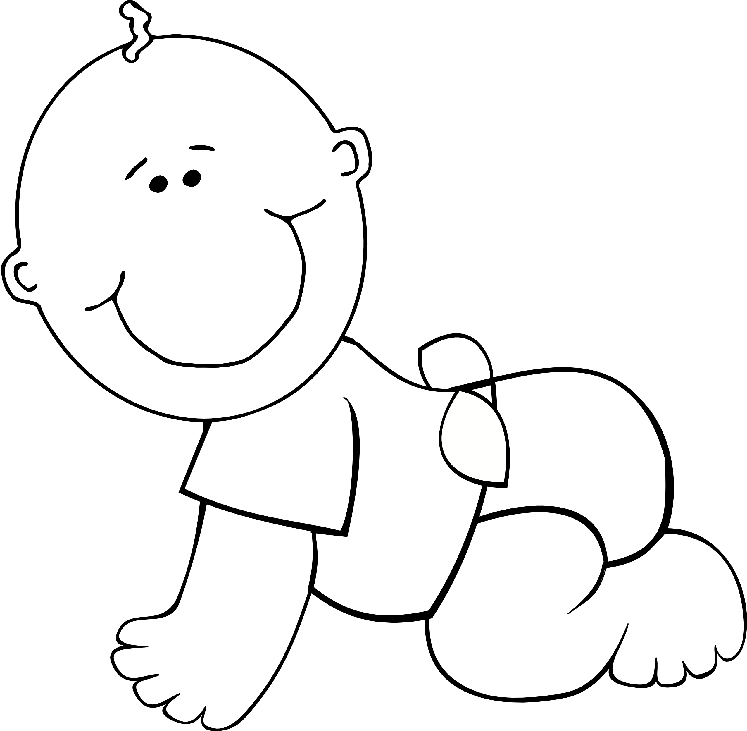 Crawling Baby Clipart