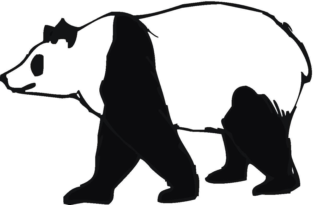 Panda Bear Outline