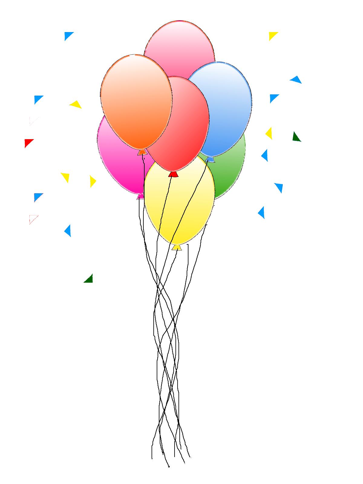 Happy Birthday Balloons Clip Art Gif