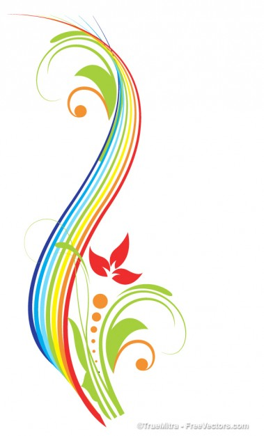 Colorful Flourishes Clip Art