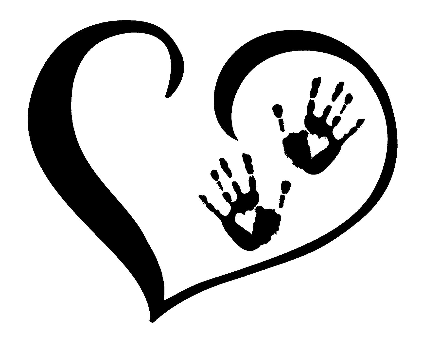 Baby Footprints In Heart