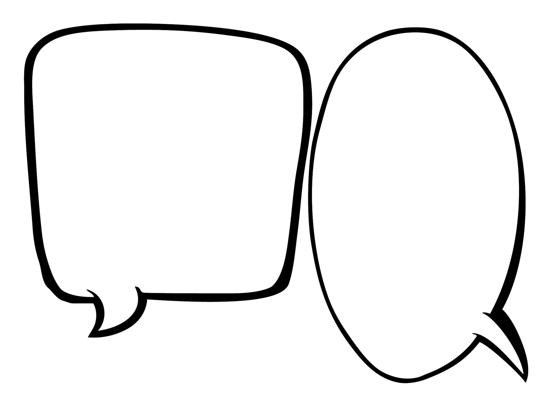 Free Printable Blank Speech Bubbles
