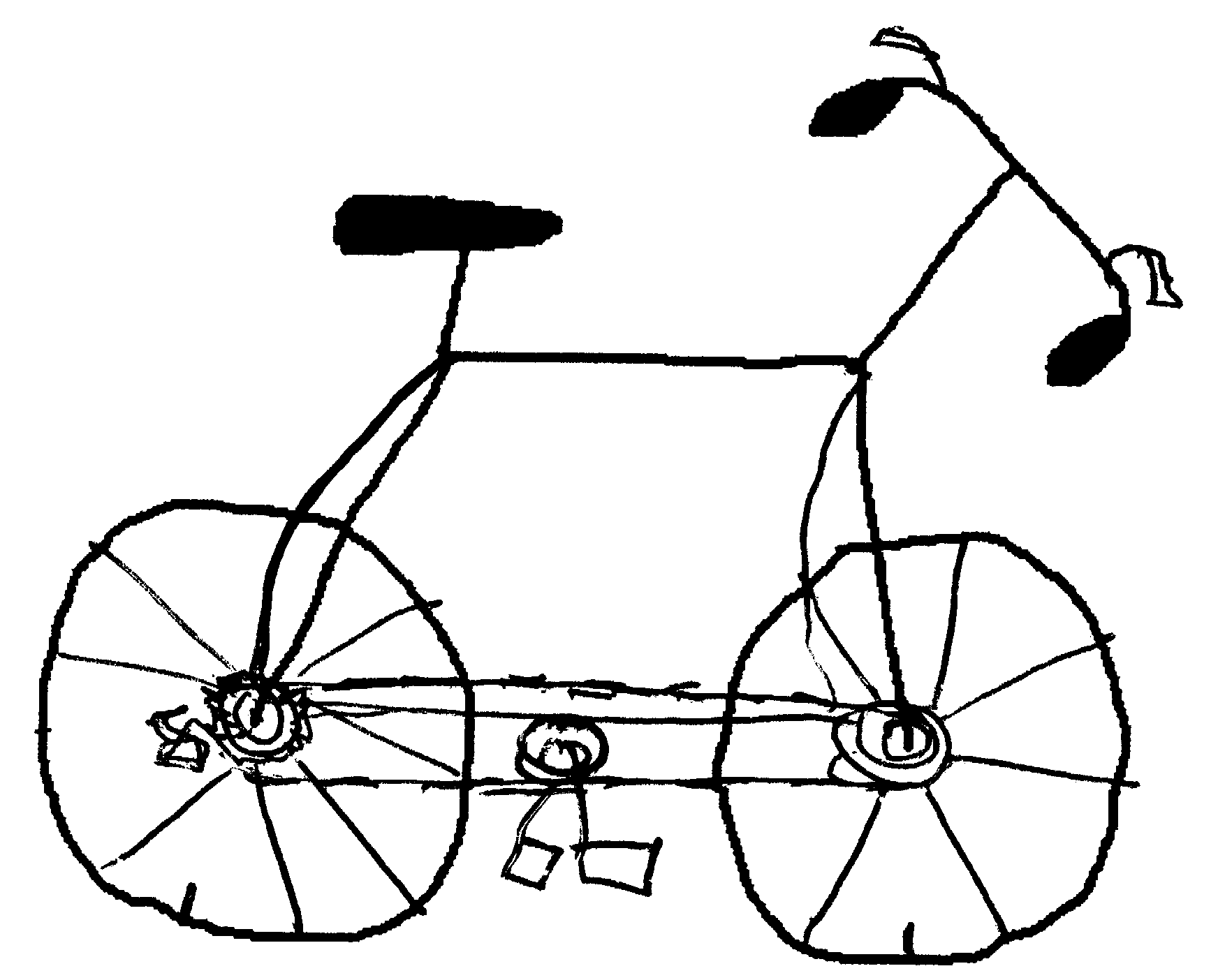 Bicycle Parts Drawing