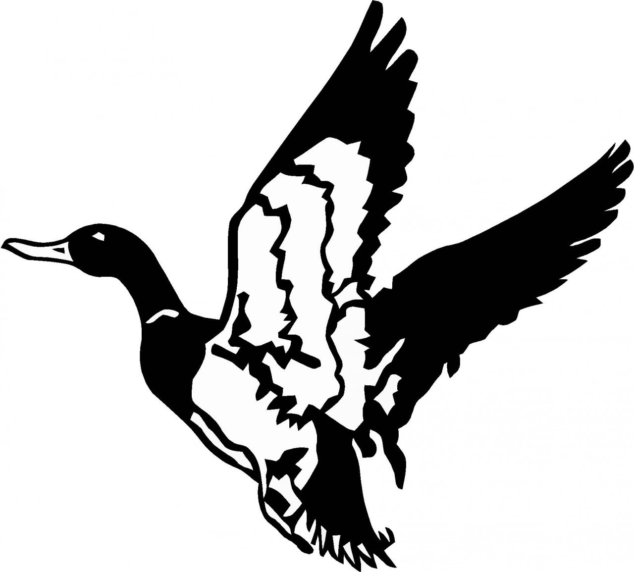 Duck Flying Silhouette