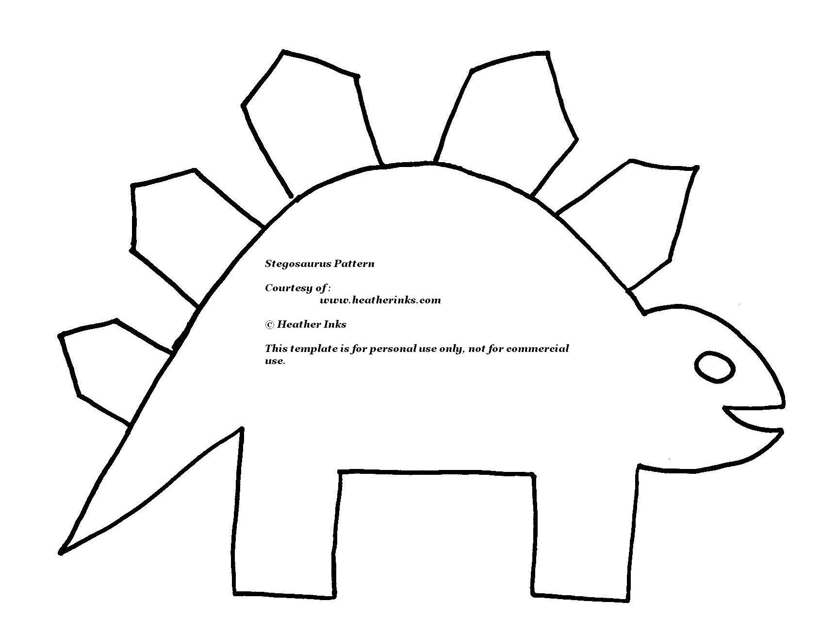 Stegosaurus Template