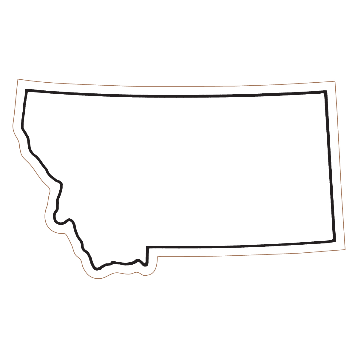 Pix For Gt Montana State Outline