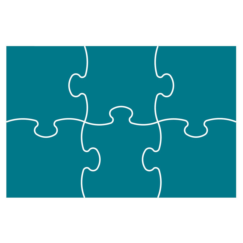 8 Piece Jigsaw Template