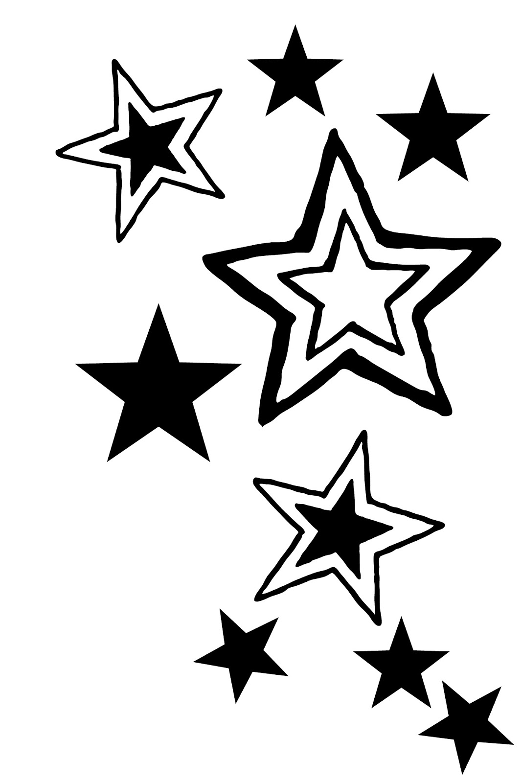 Shooting Star Templates Free