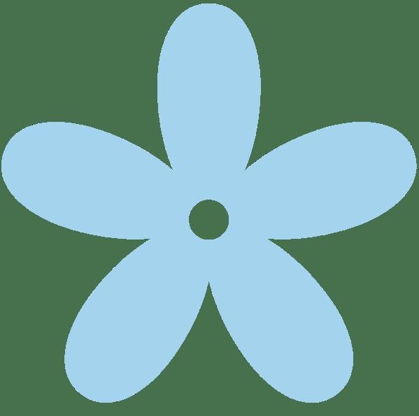 Blue Flowers Clip Art - ClipArt Best