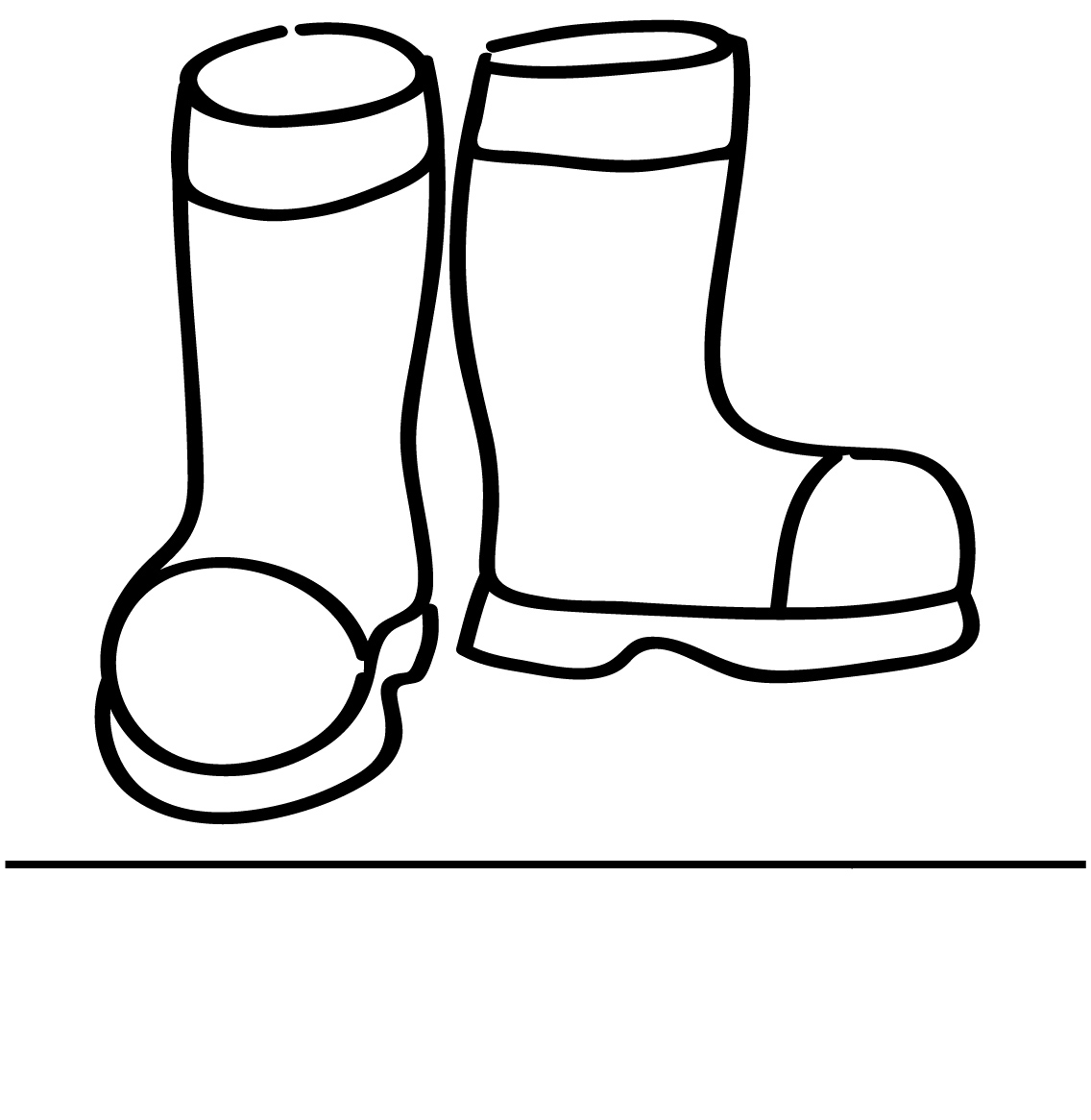 Black And White Wellies Clipart