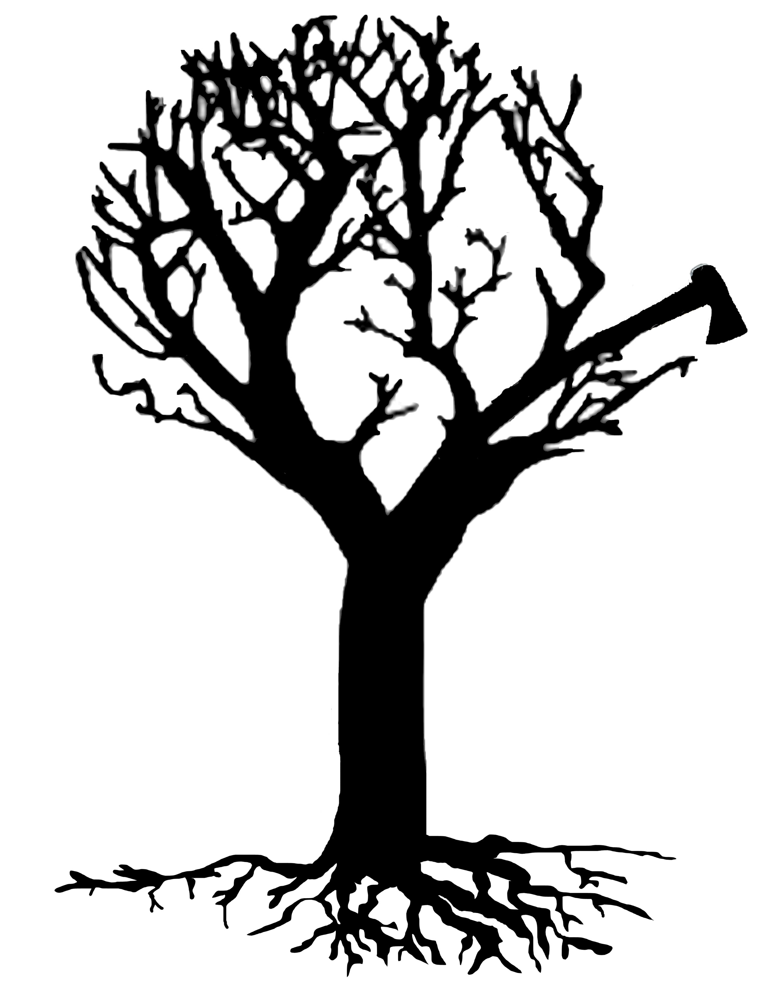 Acacia Tree Silhouette Clipart