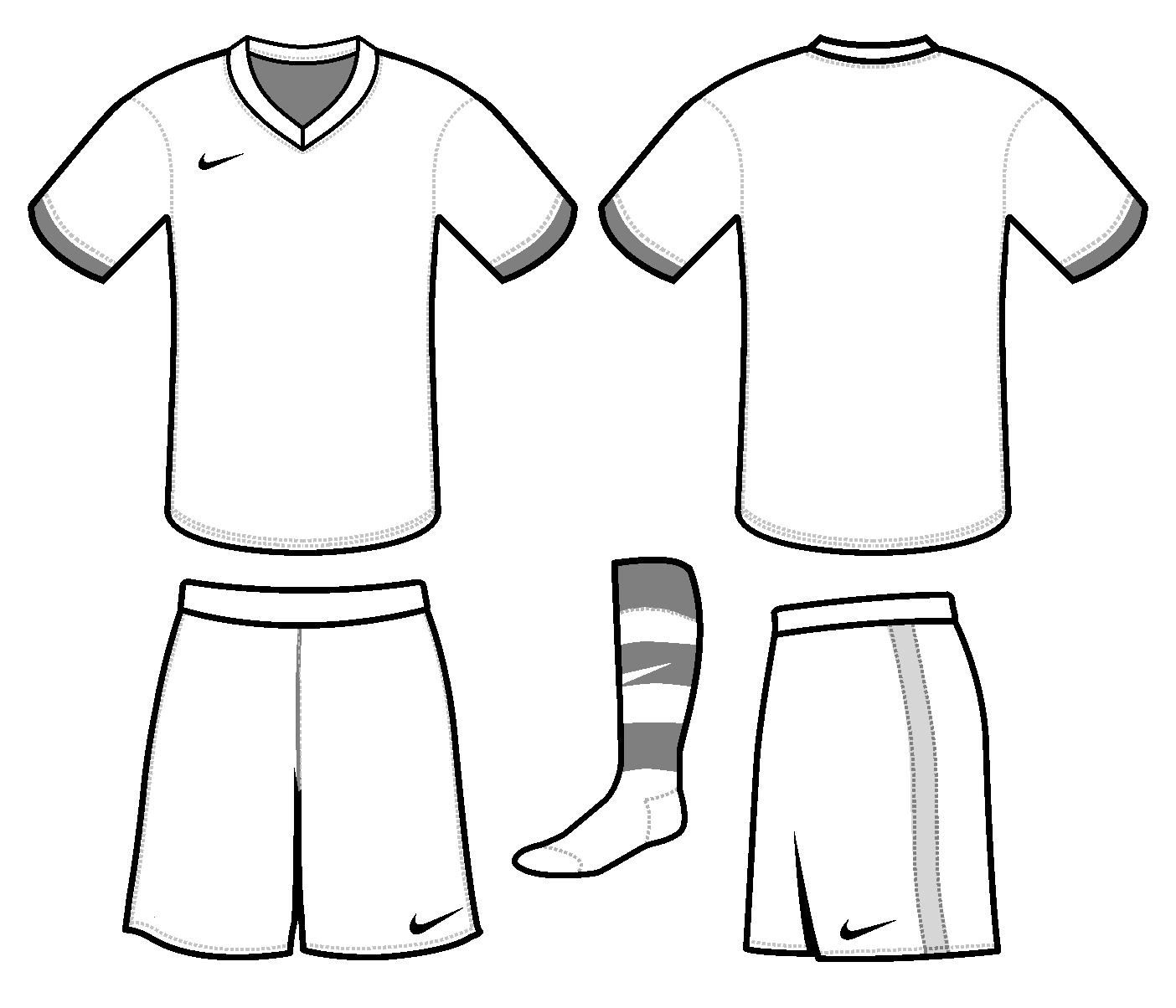 Football Uniform Template Cut Out