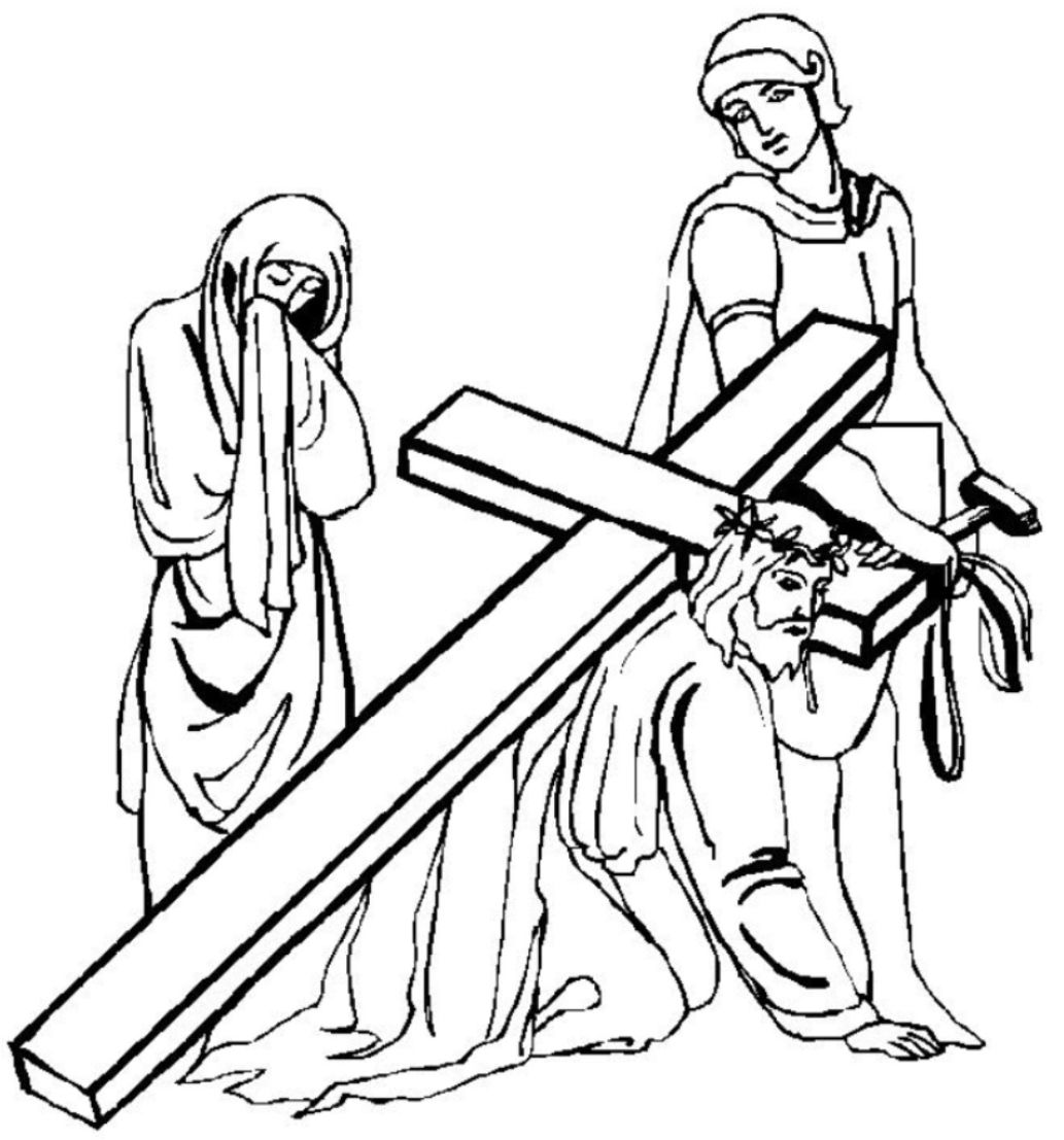 Jesus With Cross Drawing
