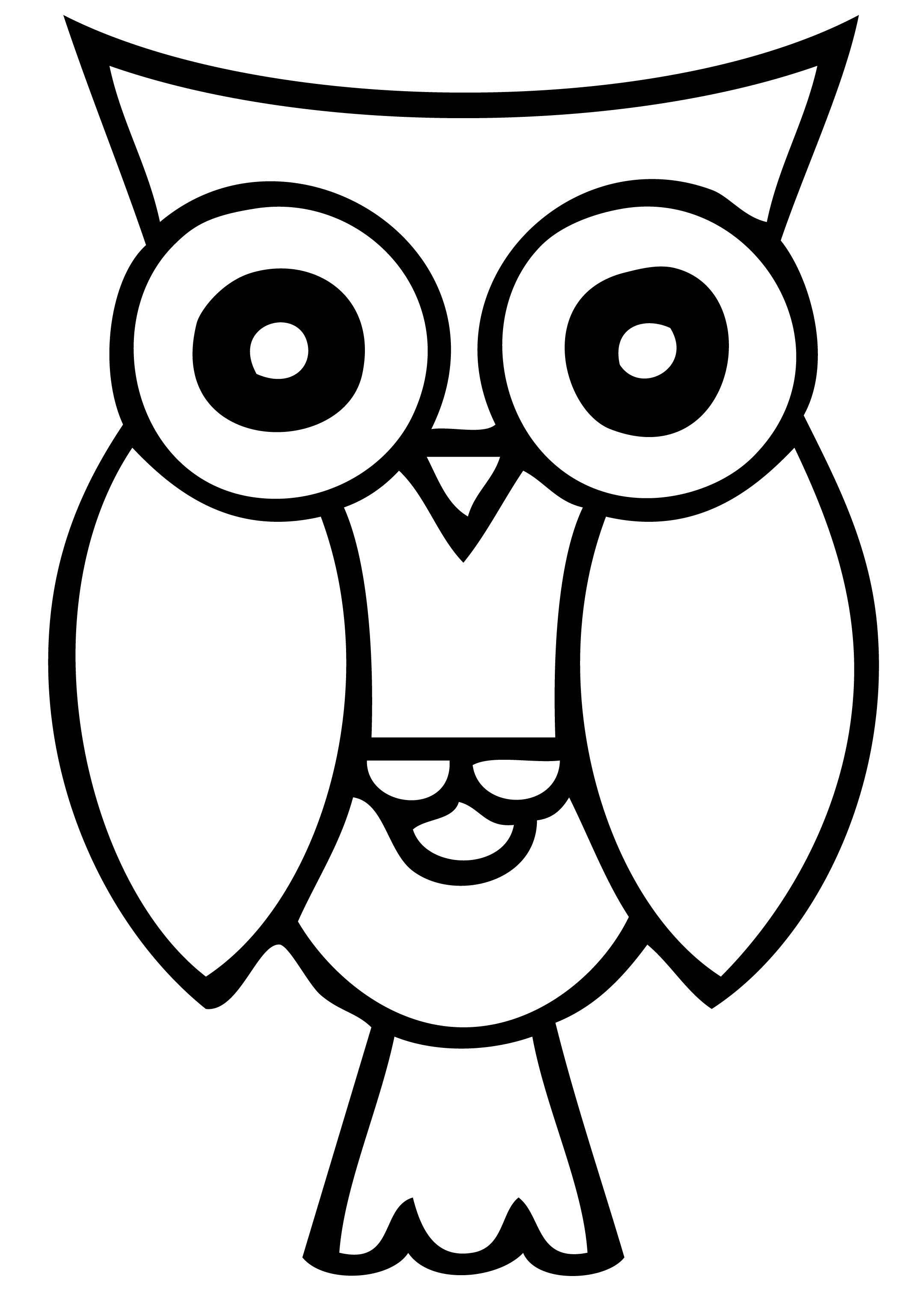 Owl Clip Art Black And White