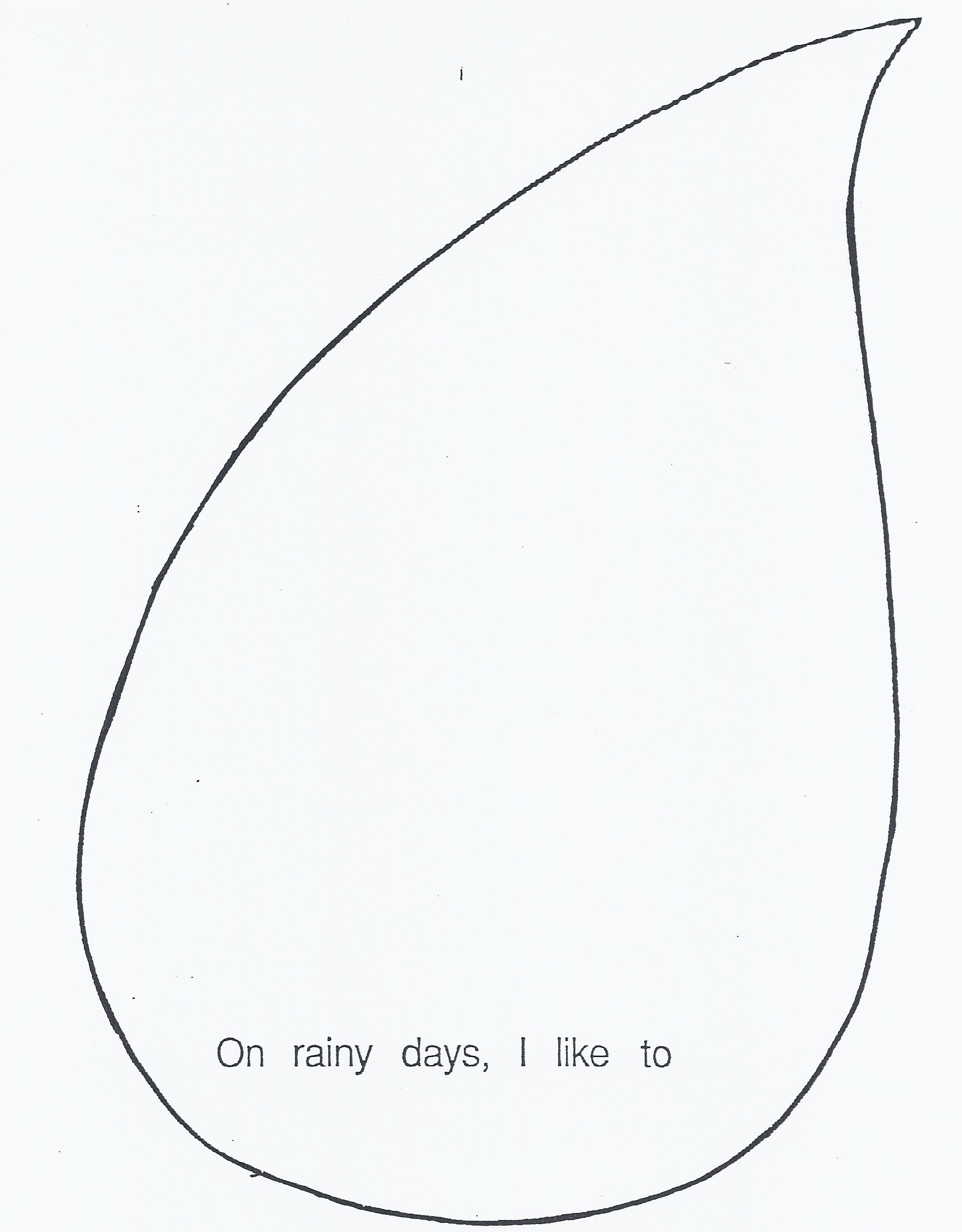Template Of Raindrop With Lines