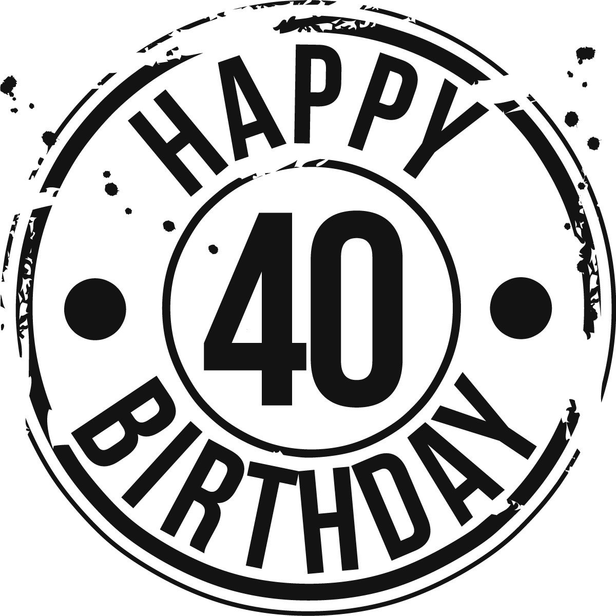 Free 40th Birthday Clipart