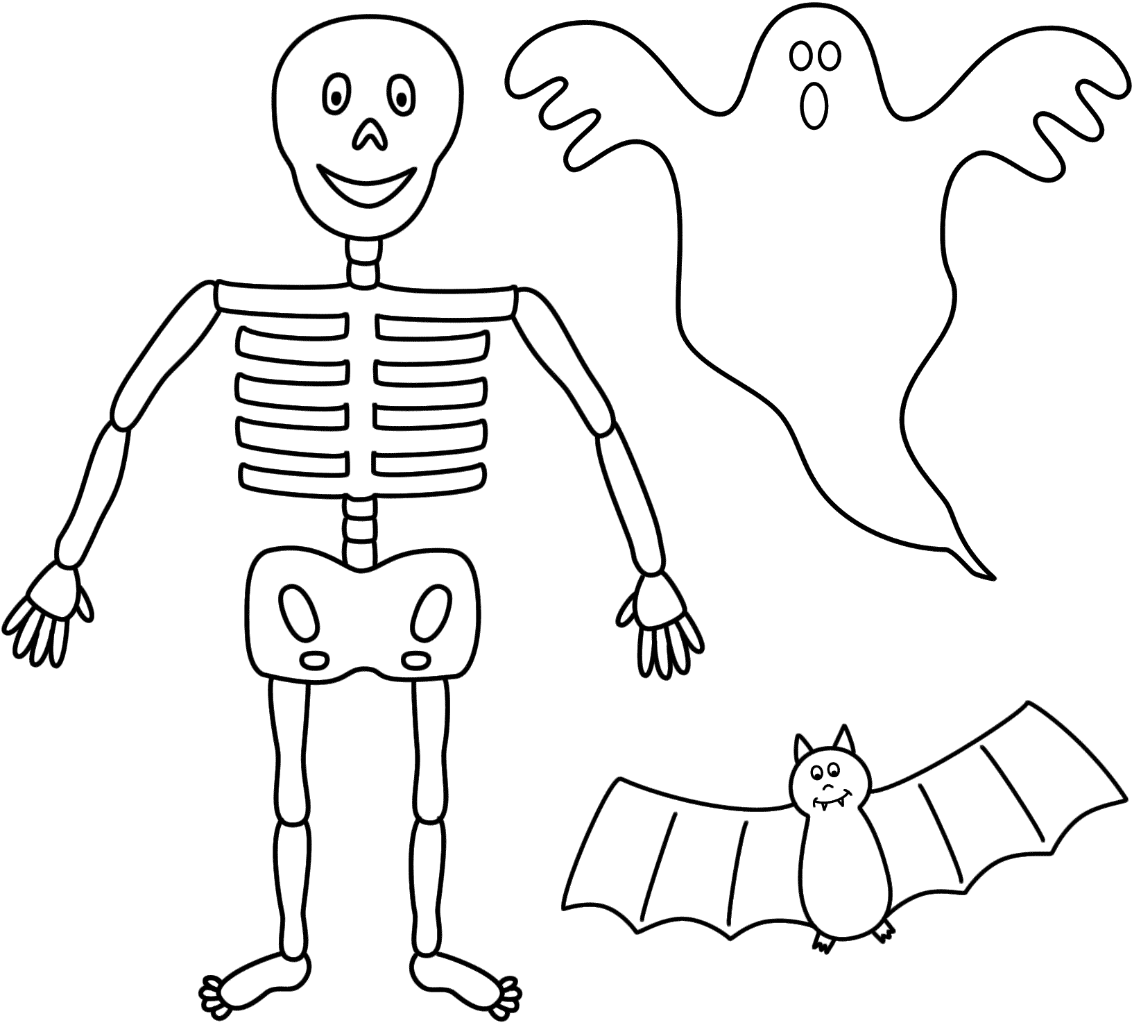Printable Skeleton Template Cut Out