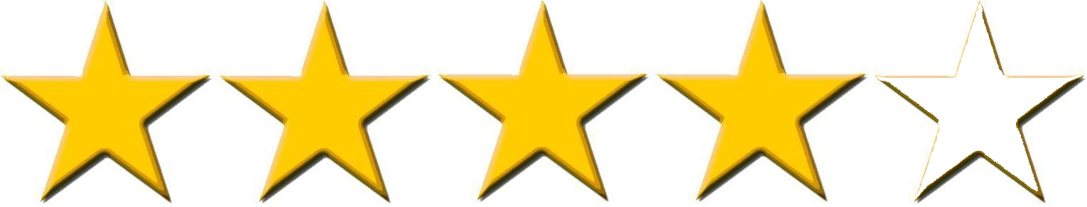 Image result for four out of five stars