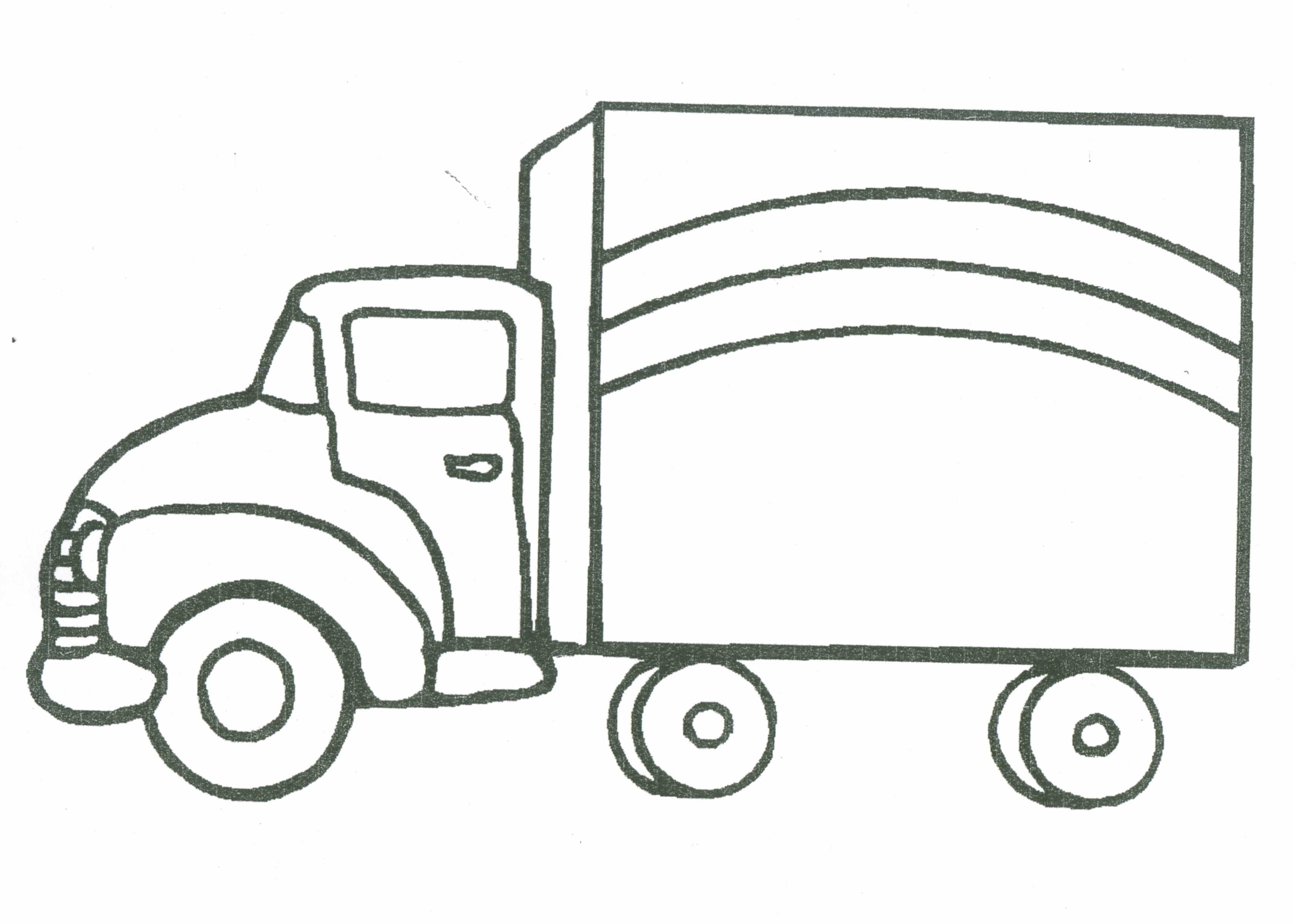 Colouring Picture For Lorry