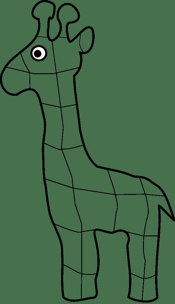 Outline Giraffe Printable Template