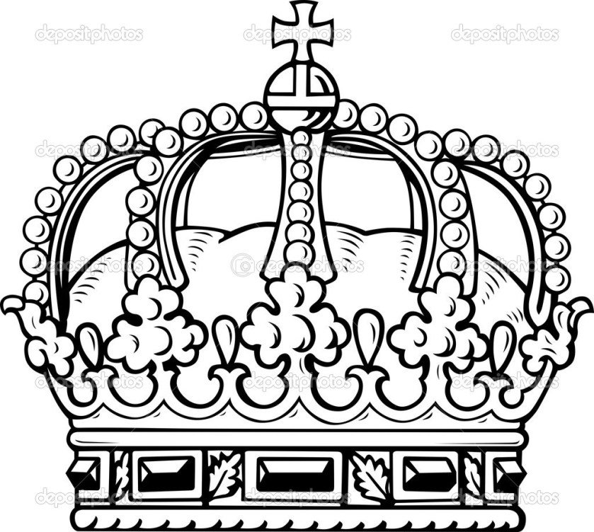 queen crown pencil coloring pages