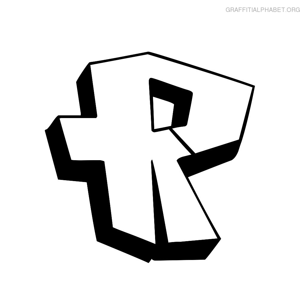 Graffiti Bubble Letters R