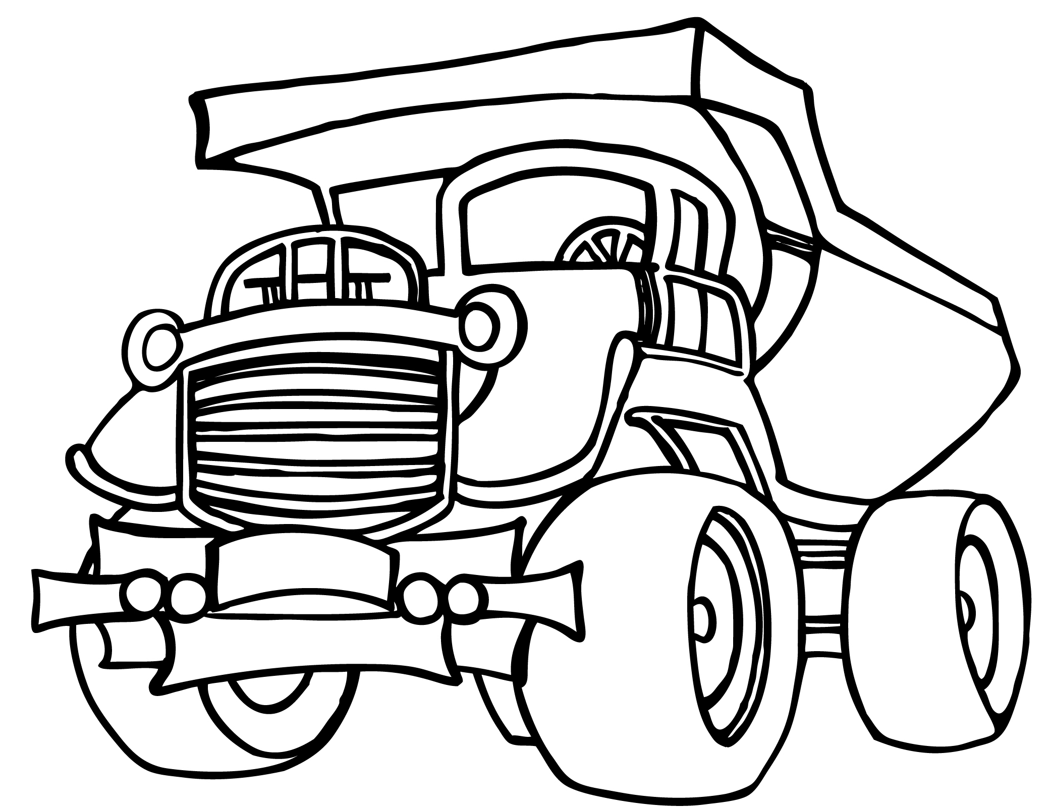 Lorry Colouring Pages