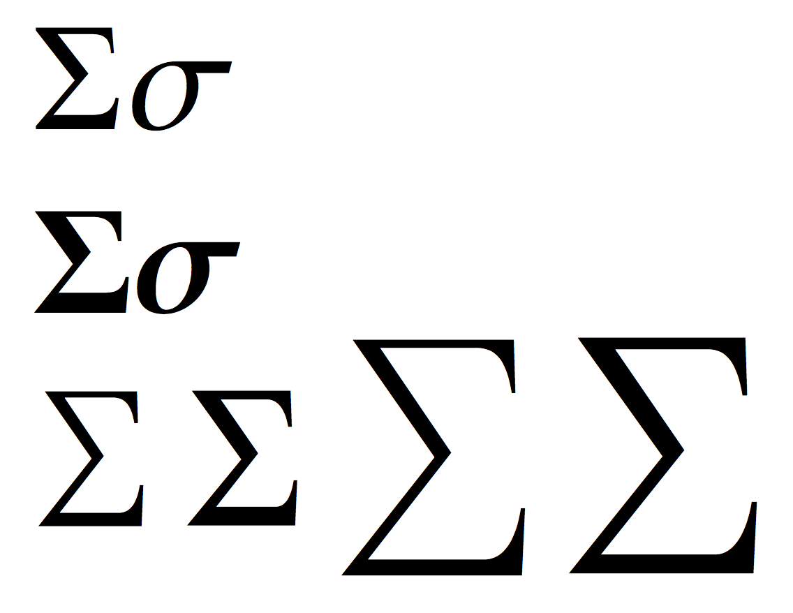 Greek Letter For Sum