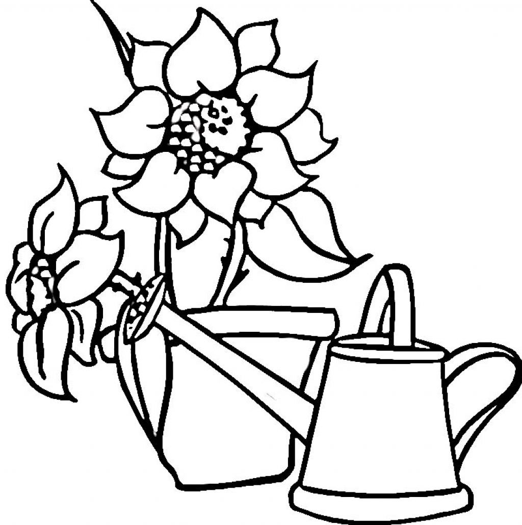 Watering Can Colouring