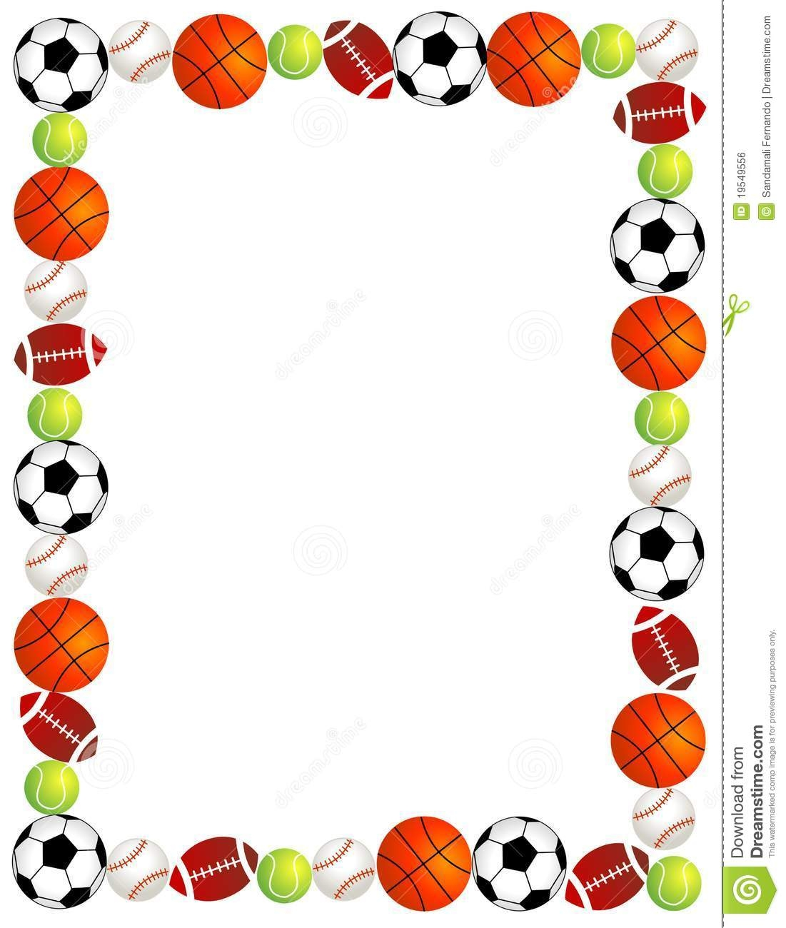 Page Borders Sporty ClipArt Best