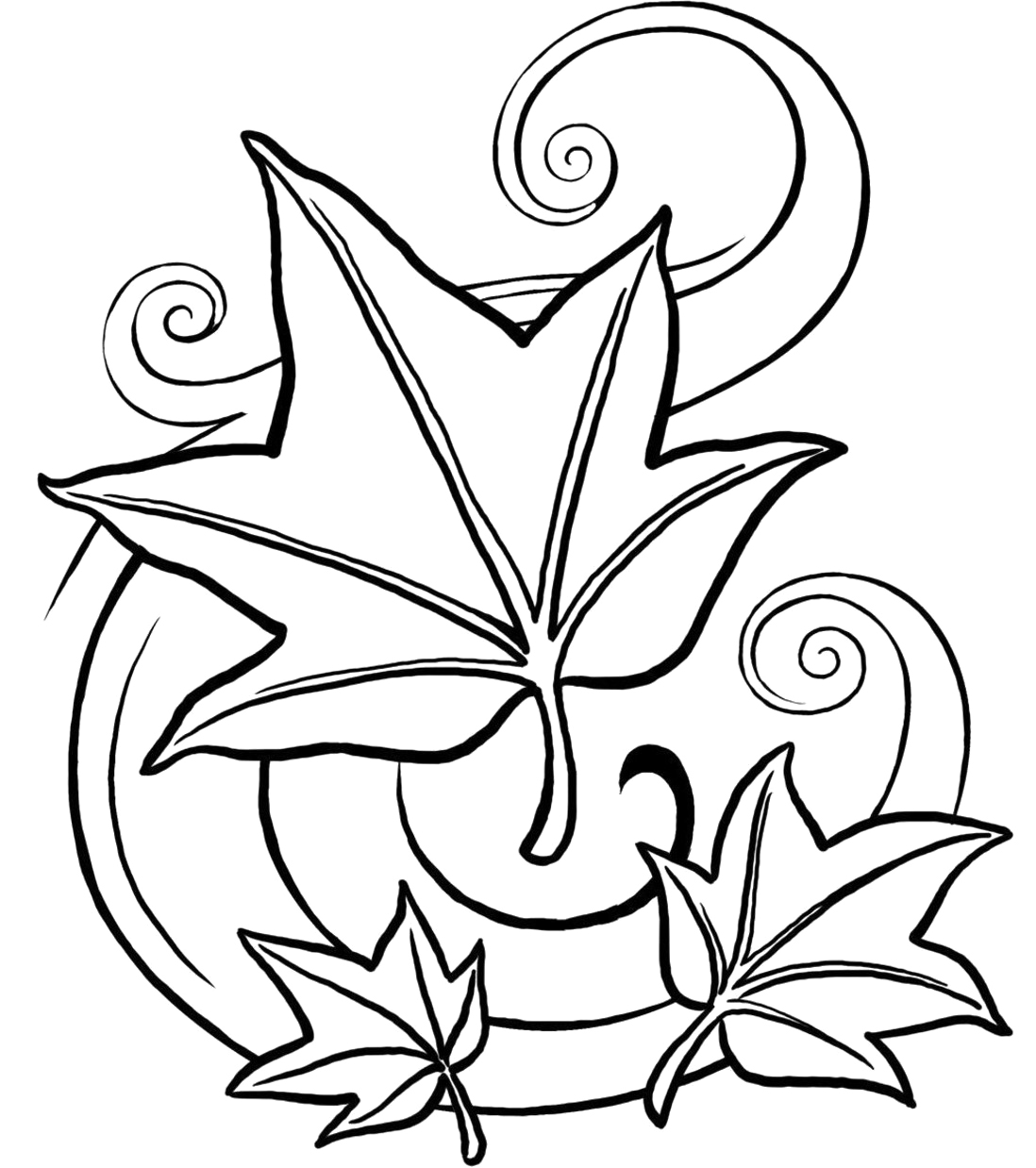 Coloring Pages Of Fall Leaves Fall Leaf Coloring Pages For