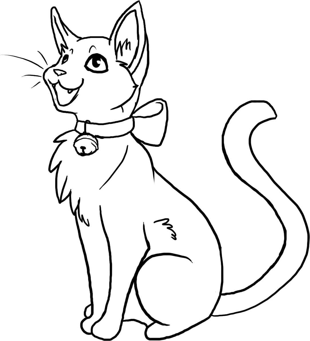 Free Kitty Lineart
