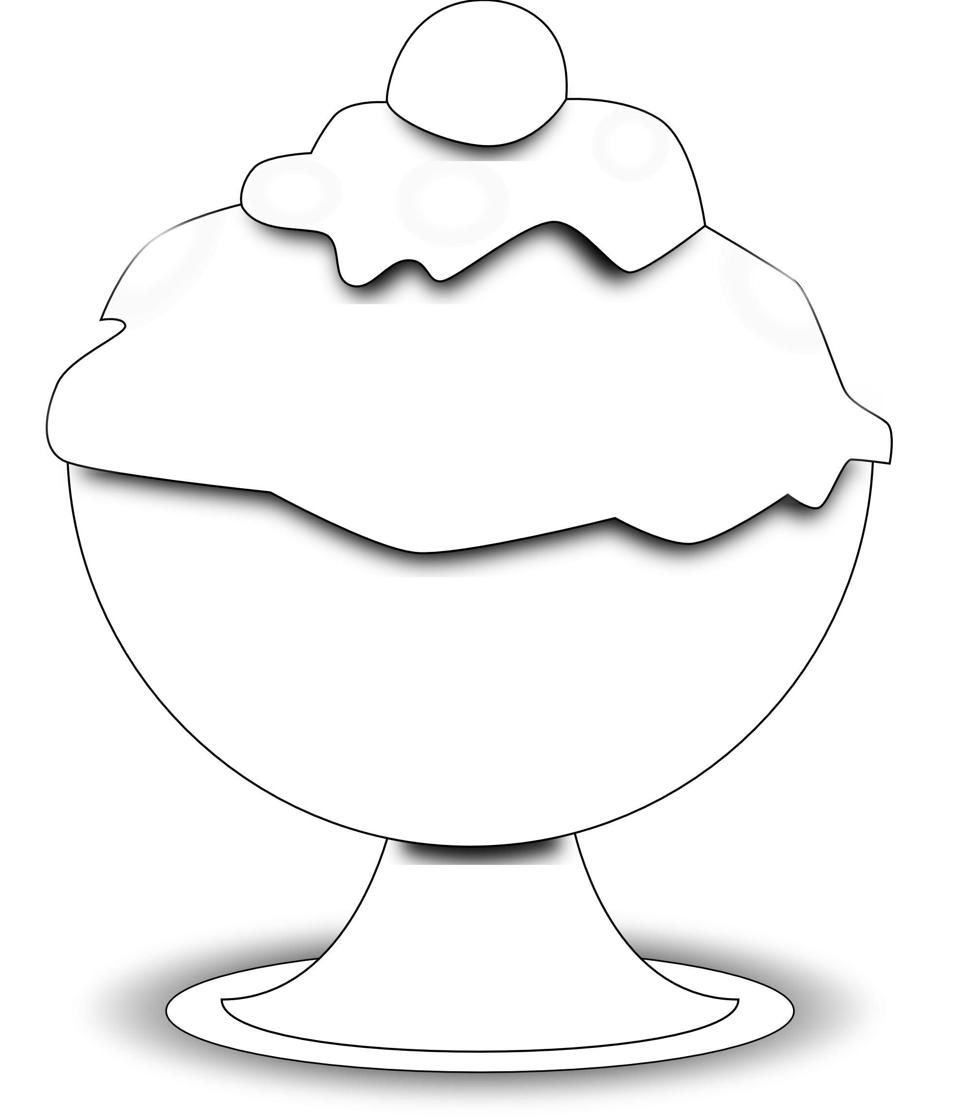 Clip Art Black And White Ice Cream Scoop