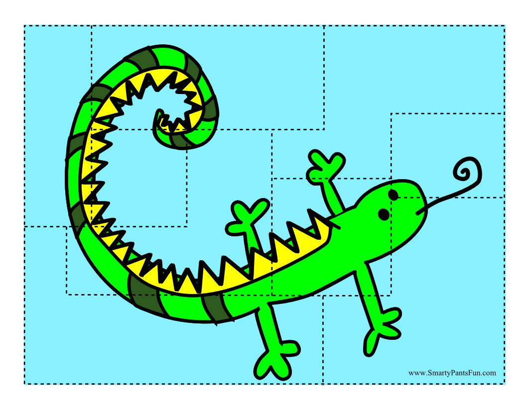 Free Cutout Fish Puzzle Printout