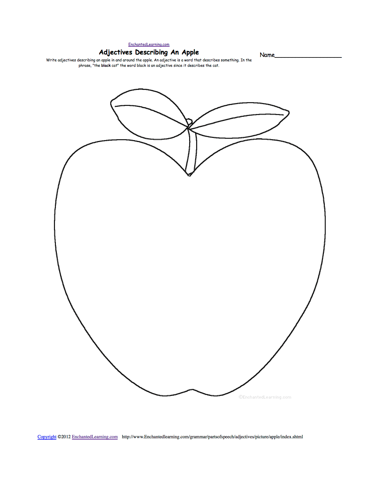 Sketches Of Apple Drawing For Kindergarten Student