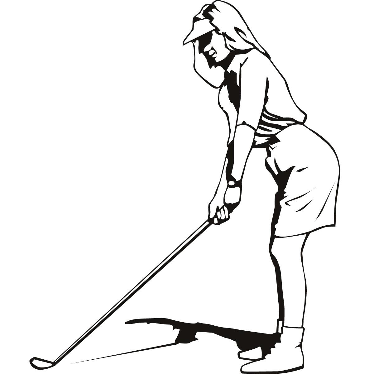Black White Golf Clip Art