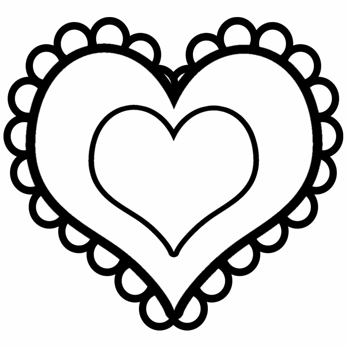 Heart Clipart Black And White Free