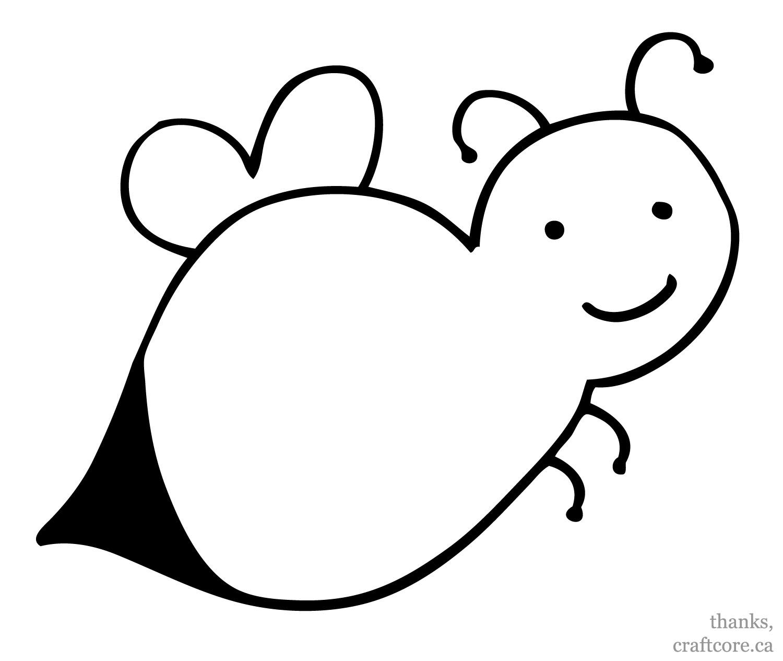 Bumble Bee Template Preschool