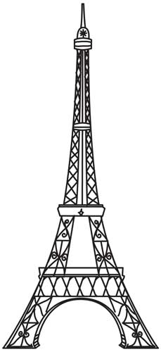 Eiffel Tower Template Free Download