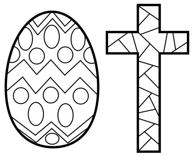 Stained Glass Cross Coloring Sheet - ClipArt Best