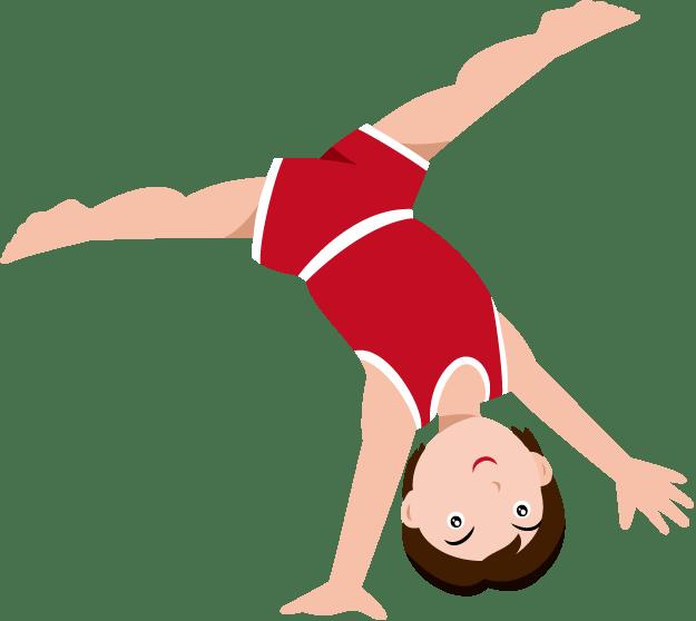 Boys Gymnastics Cartoon