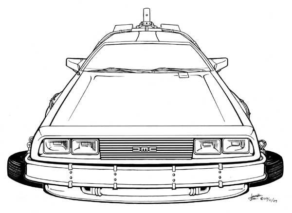 Beautiful Back To The Future Delorean Coloring Pages ...