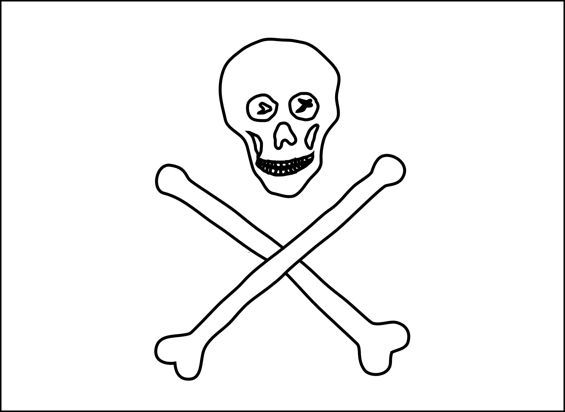 Jolly Roger Flag Coloring Page